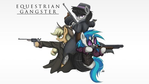 applejack MLP gangsters Fan Art - 8224941824