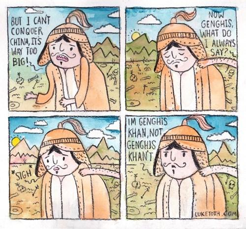genghis khan,web comics