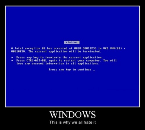 blue screen,funny,windows