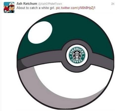 Starbucks Pokémon white girls pokeball