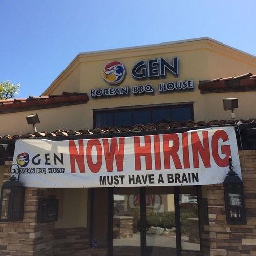 brain monday thru friday restaurant sign job hunt g rated - 8225666048