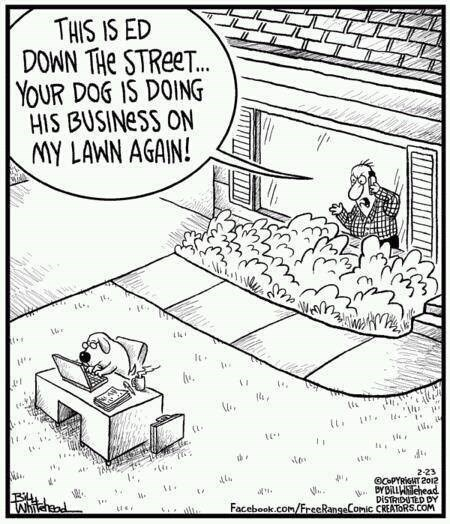 dogs puns business web comics