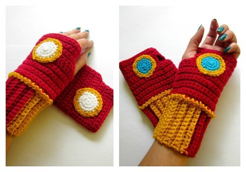 gloves knitting for sale iron man