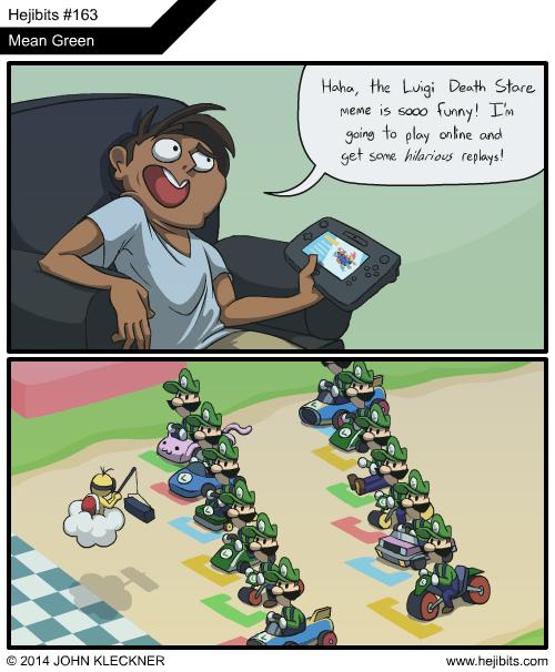 Memes video games web comics mario kart 8 luigi death stare - 8225759744