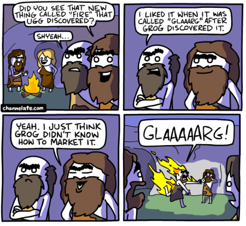 cavemen,fire,web comics
