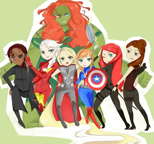 disney disney princesses Fan Art cartoons avengers - 8225785088