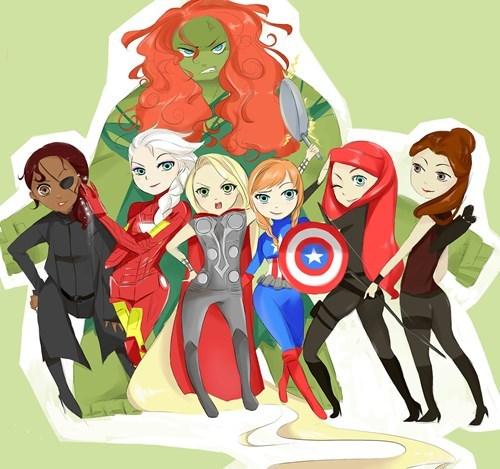 disney disney princesses Fan Art cartoons avengers - 8225785088