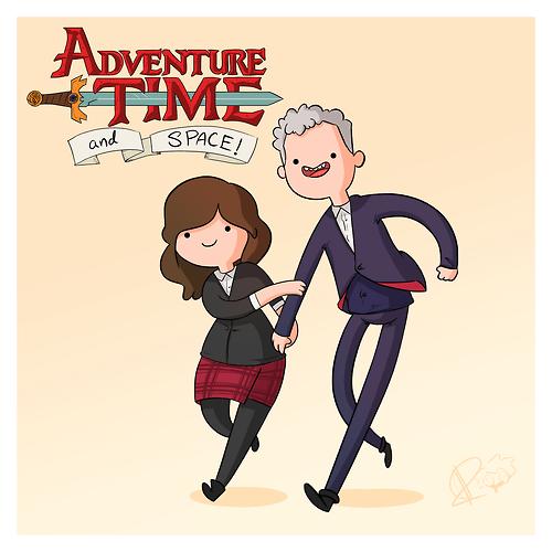 clara oswin oswald 12th Doctor adventure time - 8225786880