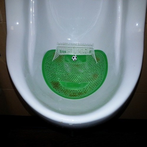 urinal bathroom soccer g rated win