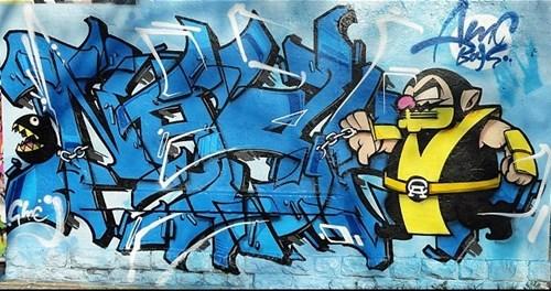 wario,Street Art,Mortal Kombat,graffiti