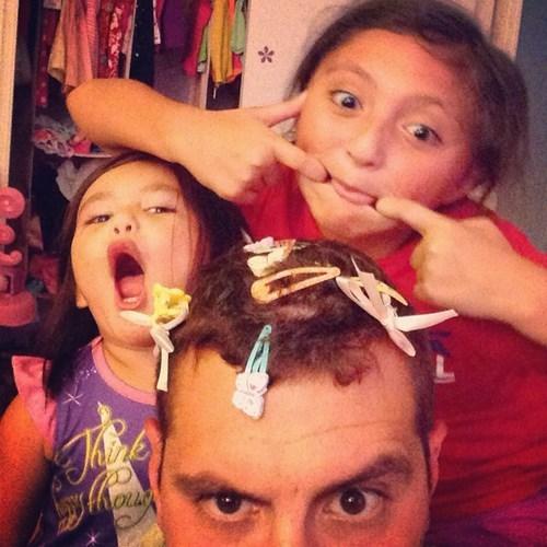 daughter dad kids hair parenting - 8225833984