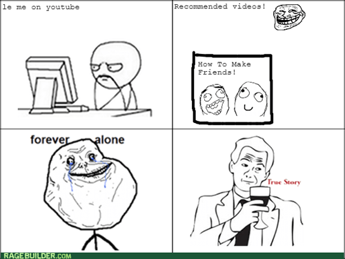 forever alone trollface youtube - 8225850368