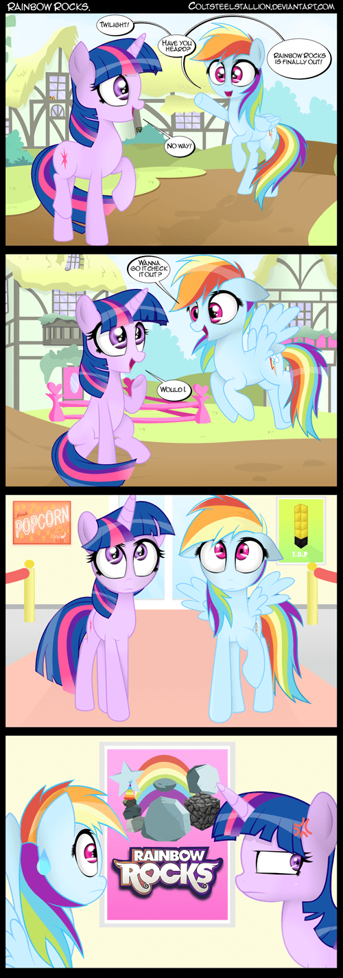 puns,twilight sparkle,rainbow dash,rainbow rocks