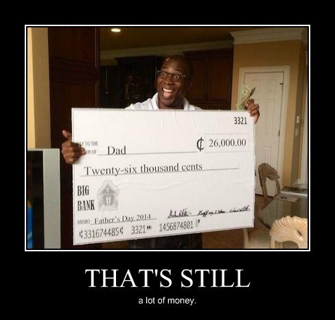 dad money fathers day funny check