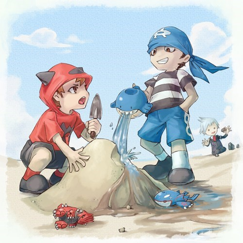 Fan Art team aqua ORAS team magma - 8226318080