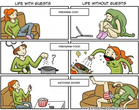 cooking,modern living,guests,no pants,web comics