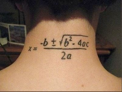 awesome science math tattoos g rated School of FAIL - 8226802176