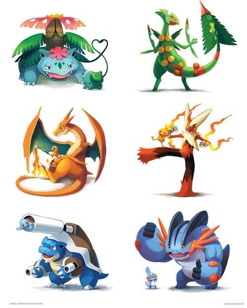 cute dawww Pokémon parents - 8226925056