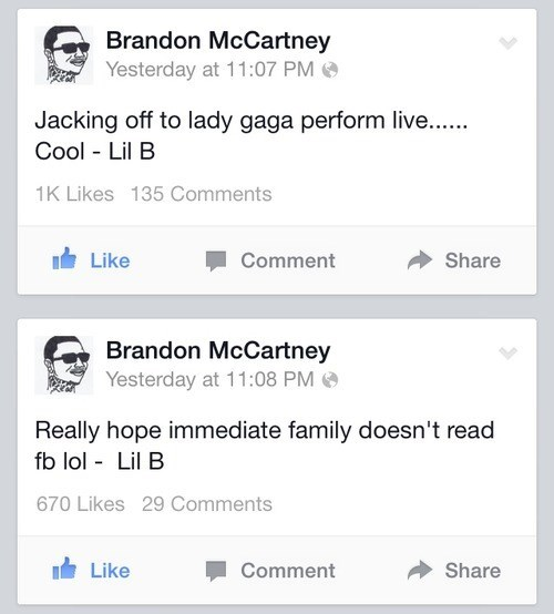lil b Oversharing facebook Overshare based god - 8227119104