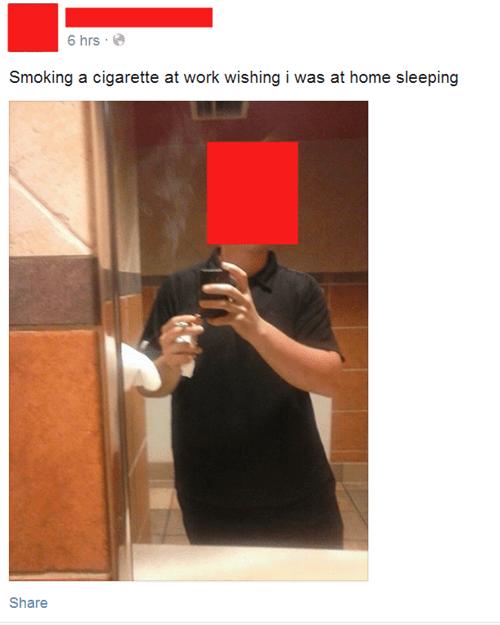 Sad work smoking