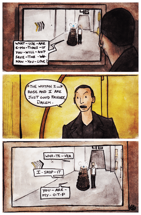9th doctor,daleks,fandom,otp,web comics