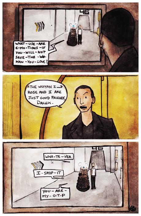 9th doctor daleks fandom otp web comics - 8227187456