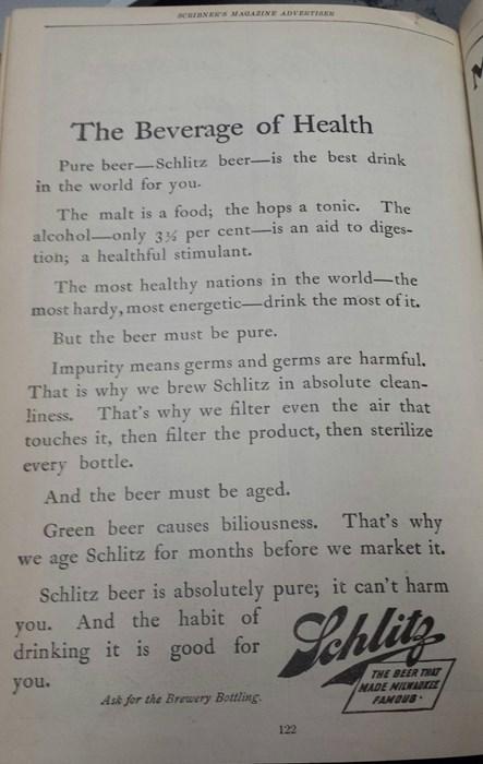beer health funny schlitz - 8227485952
