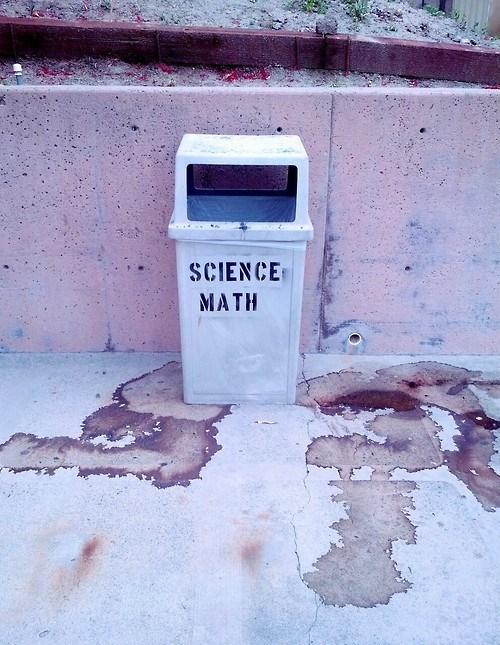 funny science math wtf trashcan - 8227513344