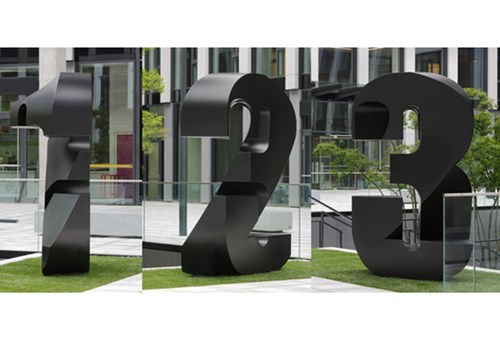 "Sculpture of the Day: ""Threshold"" is a Sculpture That Looks Like Three Different Numbers Depending on the Viewing Angle"