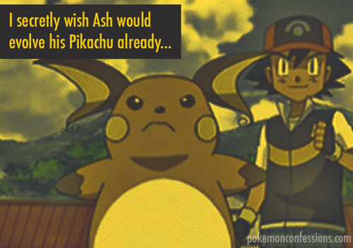 ash,Pokémon,raichu,pikachu,pokemon confessions