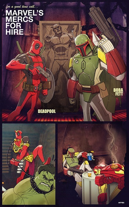 avengers,boba fett,deadpool,web comics