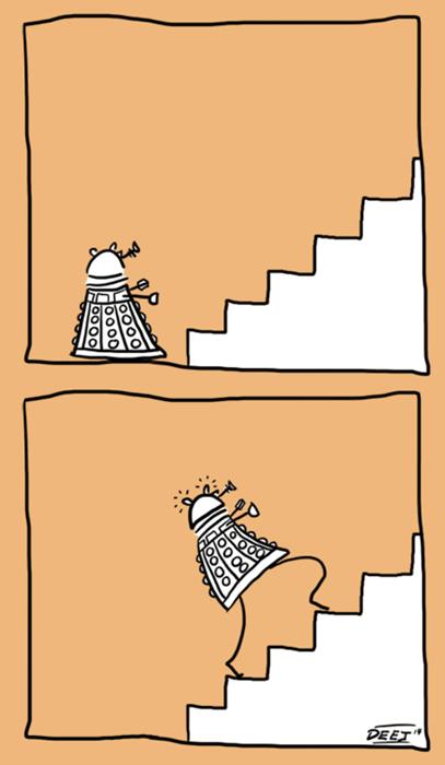 daleks stairs web comics - 8228512256