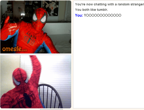 chat Omegle the amazing spider-man prank - 8228530432