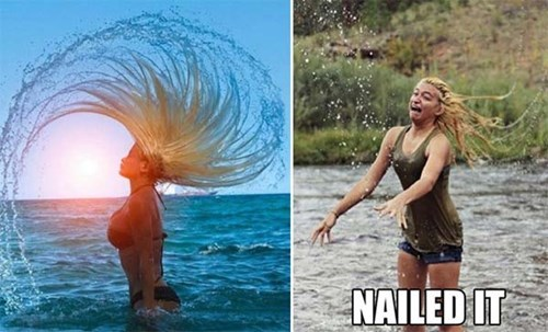 Perfect Timing photography hair Nailed It
