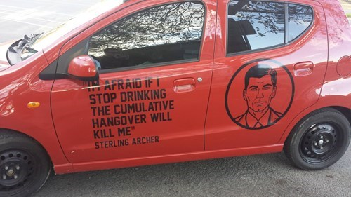 cars archer decal hangover true facts - 8228557824