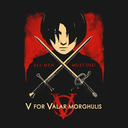 arya stark,v for vendetta,tshirts