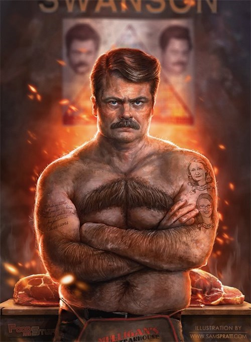 Fan Art funny ron swanson parks and recreation - 8228569088