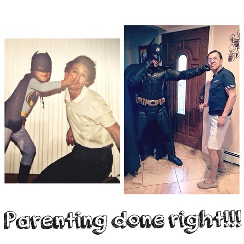 batman,punch,parenting