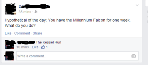 star wars nerdgasm millennium falcon failbook g rated - 8229434880