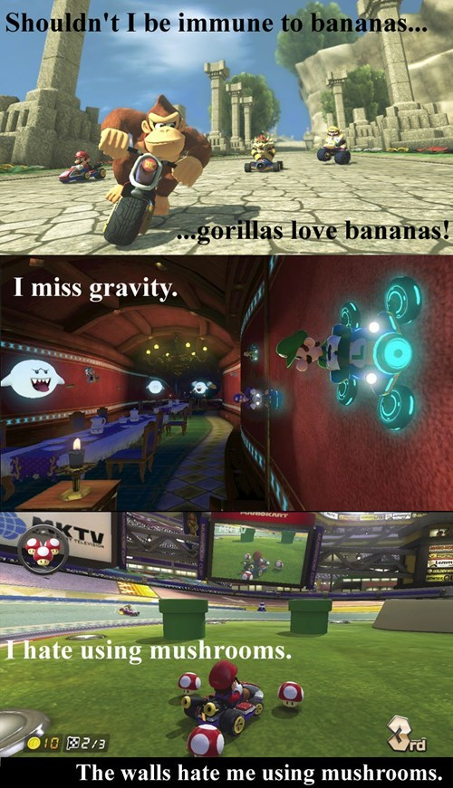 Mario Kart,video game logic,mario kart 8
