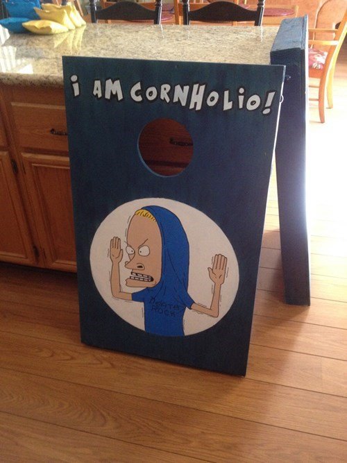 beavis and butthead,puns,corn hole