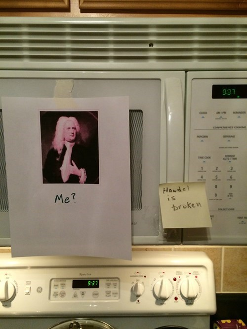 puns,classical music,microwave