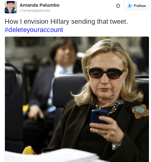twitter list donald trump Hillary Clinton reactions - 823045