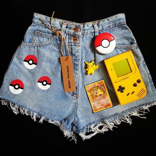 Pokémon,jean shorts,misty