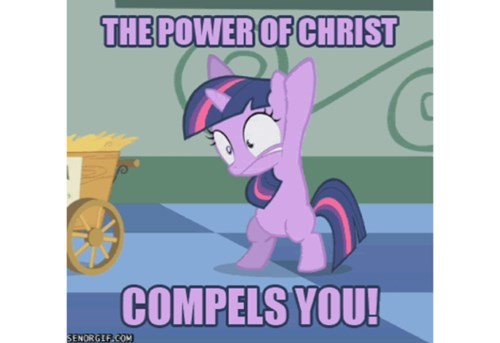 twilight sparkle exorcism the power of christ - 8231491328