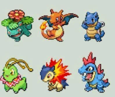 Pokémon evolution starters - 8231720192
