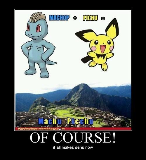 funny Pokémon machop pikachu - 8231753216