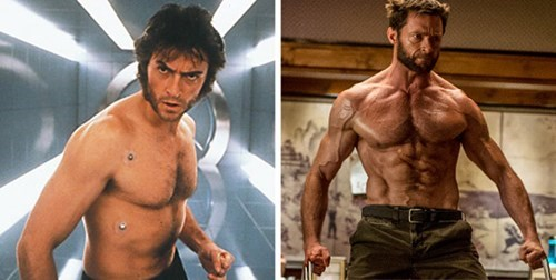 hugh jackman,wolverine,Then And Now