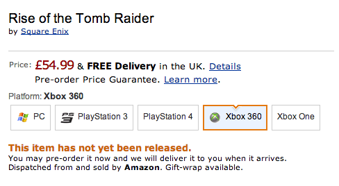 PC PlayStation 4 playstation 3 xbox 360 Tomb Raider xbox one rise of the tomb raider Video Game Coverage - 8232622080