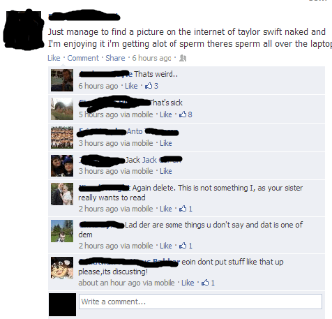 facebook taylor swift wtf TMI - 8232791808